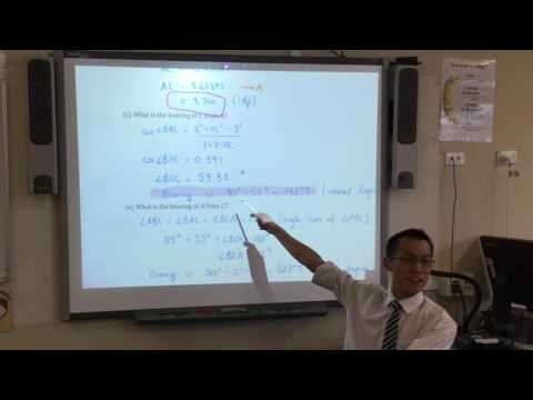 HSC Mathematics General Trigonometry Quiz (2 of 2: Bearings questions)