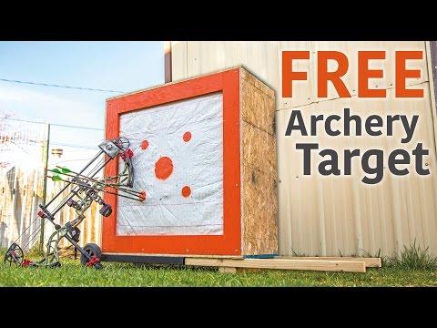 DIY Homemade Archery Target from Scrap Materials.