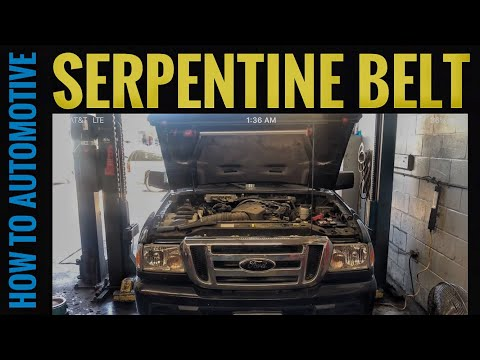 How to Replace the Serpentine Belt on a 2001-2012 Ford Ranger with the 4.0L Engine