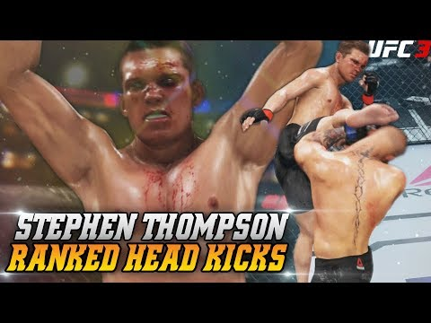 When You Don't Play EA UFC 3 Ranked For Two Weeks! Stephen Thompson EA Sports UFC 3 Funny Knock Outs