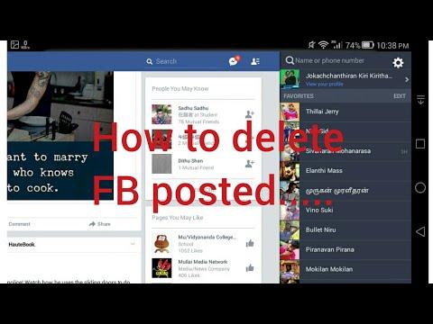 How to delete FB photos