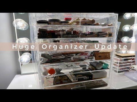 Huge Makeup Container Update | Makeup Organization