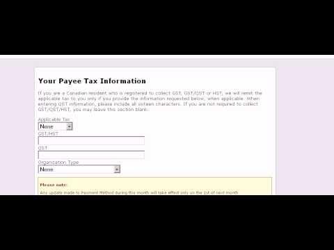 Amazon Affiliate Setting Payment Method