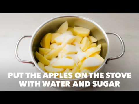 Winter chunky apple sauce