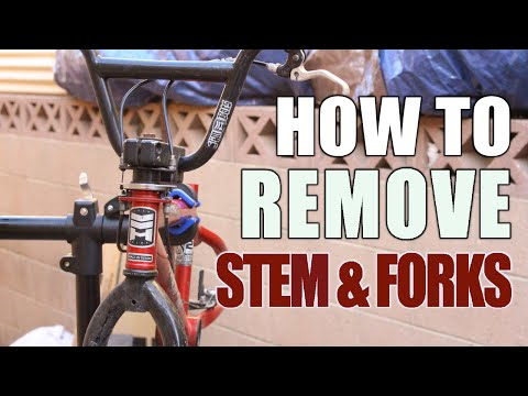 How to Remove Forks & Stem /Headset Bicycle Bmx Haro
