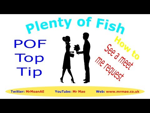 Top Tip to see who has sent a meet me request - POF - Plenty of Fish Free Dating Website