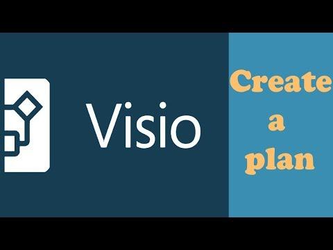 Create a floor plan with Microsoft Visio