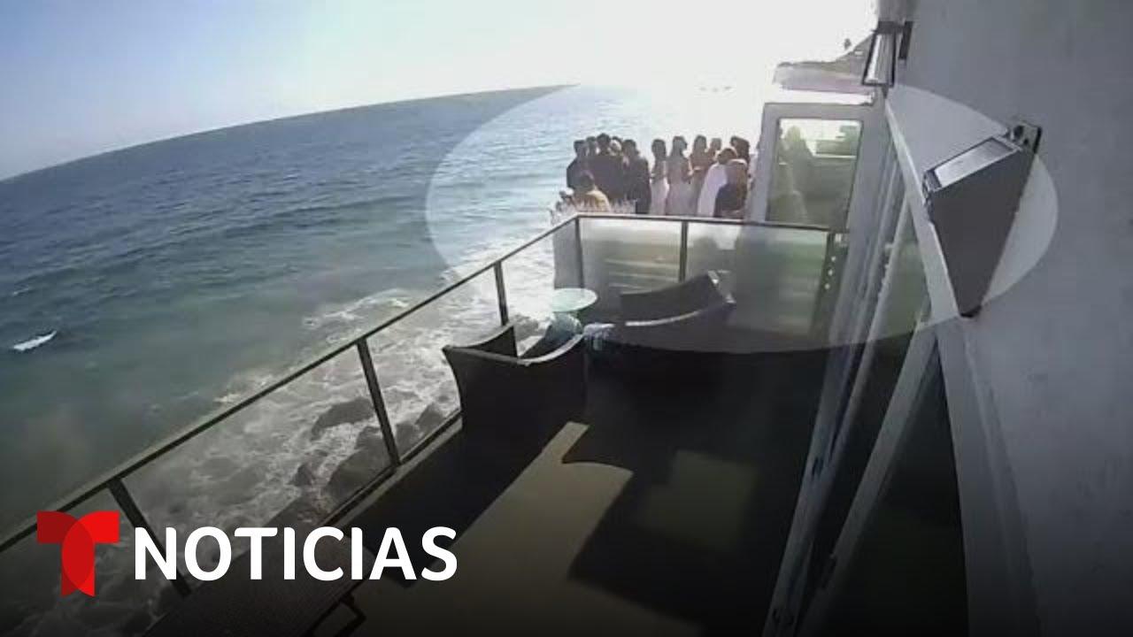 En video: Se desploma un balcón lleno de gente en California | Noticias Telemundo