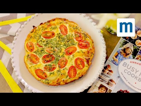 Easy cheese and tomato frittata | Annabel Karmel's Busy Mum's Cookbook