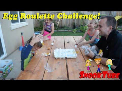 Family night fun-- Egg Roulette Challenge!