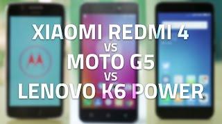 Xiaomi Redmi 4 vs Moto G5 vs Lenovo K6 Power | Display, Battery, Performance, and More