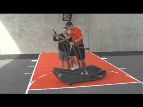Using the WOODWAY CURVE Manual treadmill to develop Overspeed Training