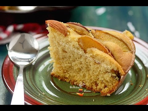 No Bake Skillet Cake without any Oven | Peach Buttermilk Cake | Gas top Cake | Stove Top Cake