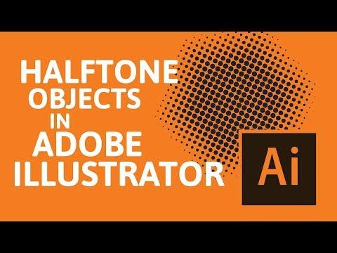 Create halftones in Adobe Illustrator