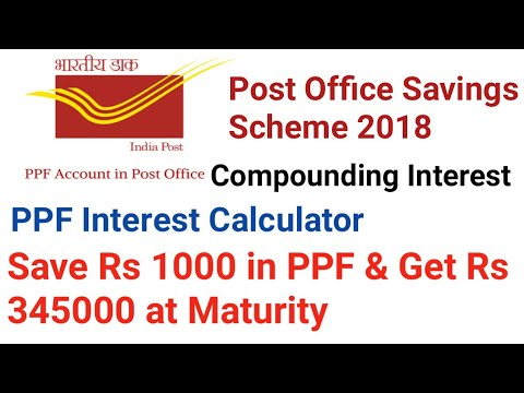Post Office Savings Scheme 2018 | PPF Interest Calculator | Public Provident Fund Scheme