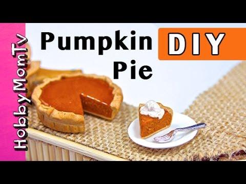 DIY How to Make Pumpkin Pie | Polymer Clay Tiny Charms Earrings HobbyMomTV