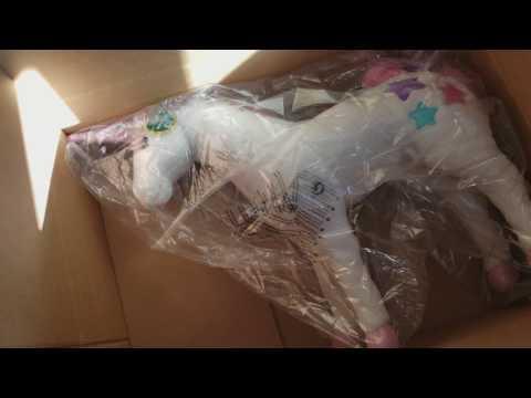 Melissa & Doug-Giant Unicorn-Lifelike Stuffed Animal