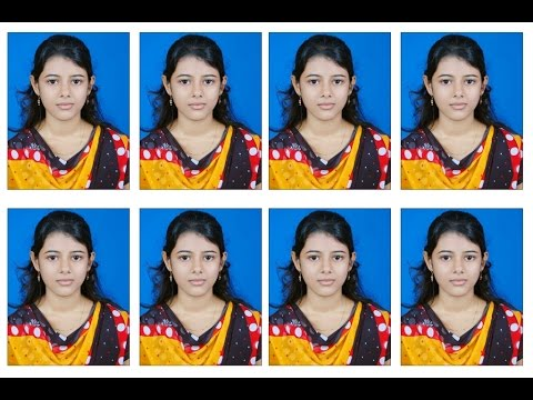 Create Photoshop shortkut action for passport size photo in 6x4 maxi size