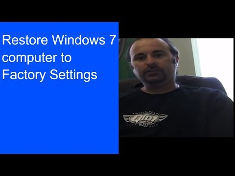 Restore computer to factory settings
