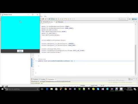 Multiple Panels in one JFrame in Java