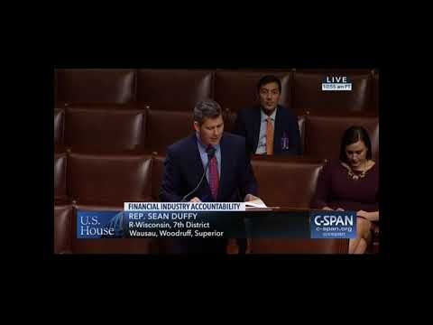 Sean Duffy Floor Remarks on Corporate Governance Reform and Transparency Act
