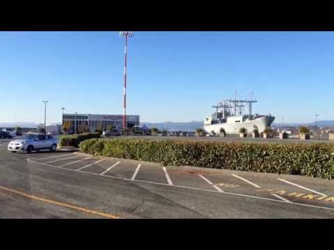 Navy Ship at Ogden Point Victoria BC | Gingerbread Cottage