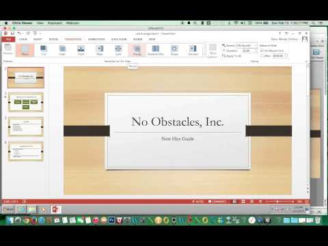 How to Add Transitions and Sound to PowerPoint 2013