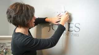 How To Apply A Custom Wall Decal