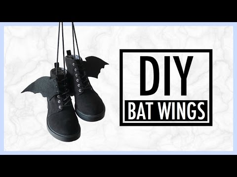 DIY Bat Wings Shoe | simplyshow