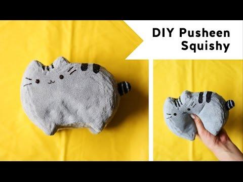 DIY Pusheen Squishy (feat. PolymomoTea)