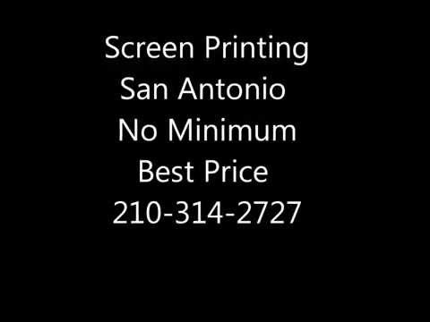 San Antonio Screen Printed T-Shirts Cheap