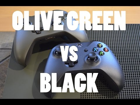 XBOX ONE S unboxing + Limited Olive green color! With Pictures