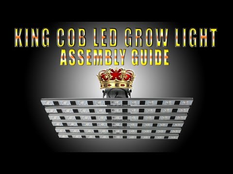 How To Assemble The King Cob LED Grow Light