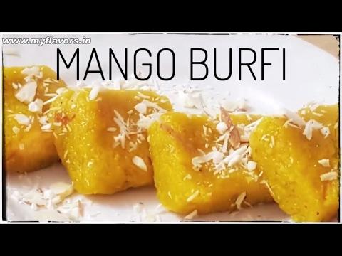मिन्टों में बनाऐं स्वादिष्ट आम बर्फी/आम कलाकंद Easy Mango Burfi Recipe/Mango Khoya burfi/burfi