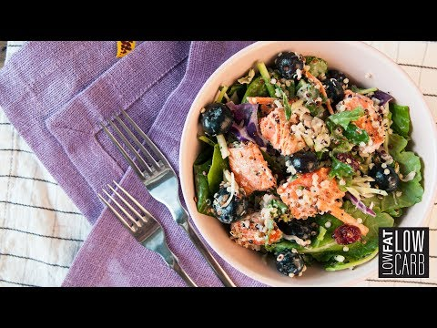 Most Tasty Kale Salmon Salad with Brussels Sprout Recipe - Food lovers!