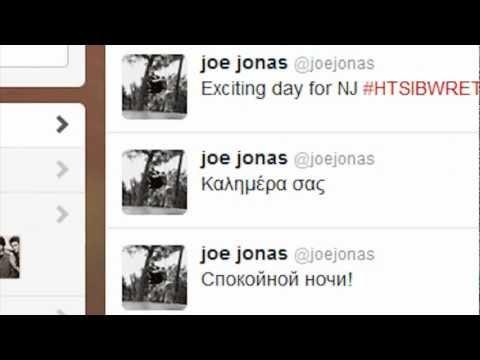 Joe Jonas tweeted on twitter