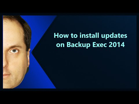 How to install updates on Backup Exec 2014
