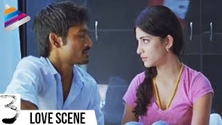 Dhanush and Shruti Haasan First Night | 3 Movie Movie Scenes | Anirudh | Telugu Filmnagar