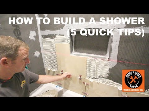 How to Build a Shower (5 Quick Tips)
