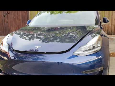 Tesla Model 3 - How To: Open the Front Trunk with the Phone App