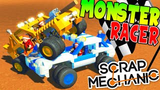 Carrera Epica De Monster !! Scrap Mecanic Super Divertido !! Scrap Mechanic Makiman