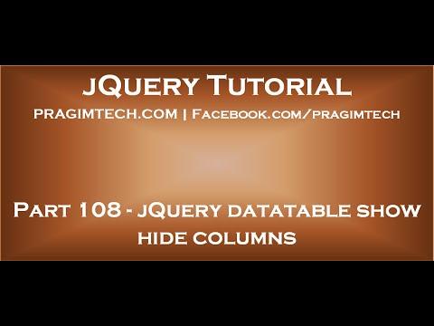 jQuery datatable show hide columns