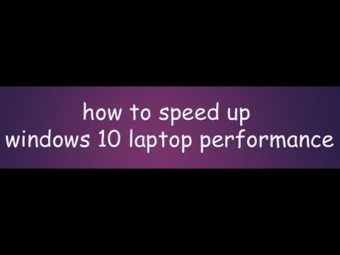 how to speed up windows 10 2018