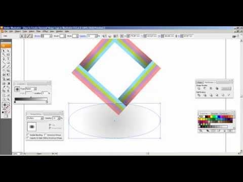 How to Create Diamond Shape Logo in Illustrator CS3 Part   2