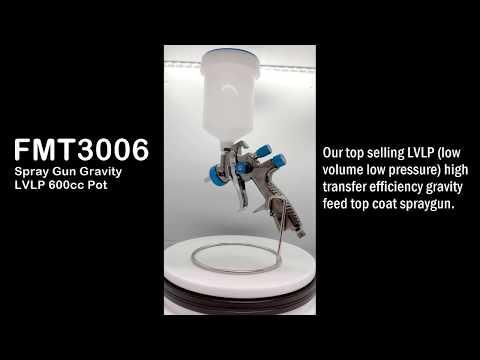 Spray Gun Gravity LVLP 600cc Pot - FMT3006