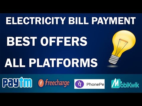 Best Offers to Pay Electricity Bill !! Get Maximum Cashback !! Best Offers of 2017 !! Top 4 Offers !