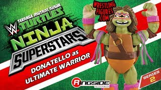 WWE FIGURE INSIDER: Donatello as Ultimate Warrior - TMNT / WWE Ninja Superstars 2 Toy Action Figure