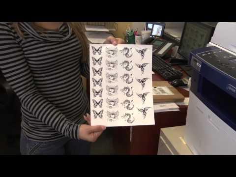 WaterSlide Decal Temporary Tattoo Paper Tutorial