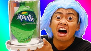 Download What Happens To Sprite Bottle in a Vacuum Chamber? Video