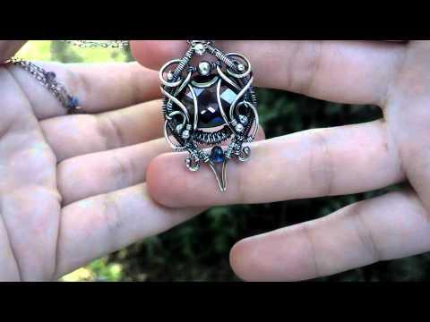Color Shift Sapphire necklace fine silver lab color change gemstone